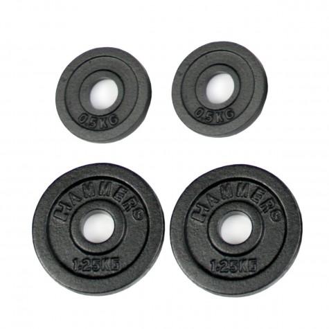 Finnlo FINNLO Gewichtsscheiben 2x 0,5 kg, 2x 1,25 kg, schwarz schwarz