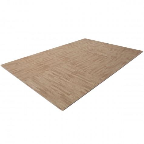 FINNLO floor mat with wood look (puzzle mat)